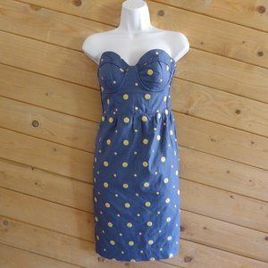 Floreat Anthro Sun Dot Corset Strapless Dress 6